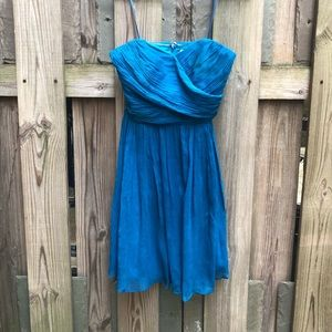 Strapless Chiffon JCrew Bridesmaid Dress